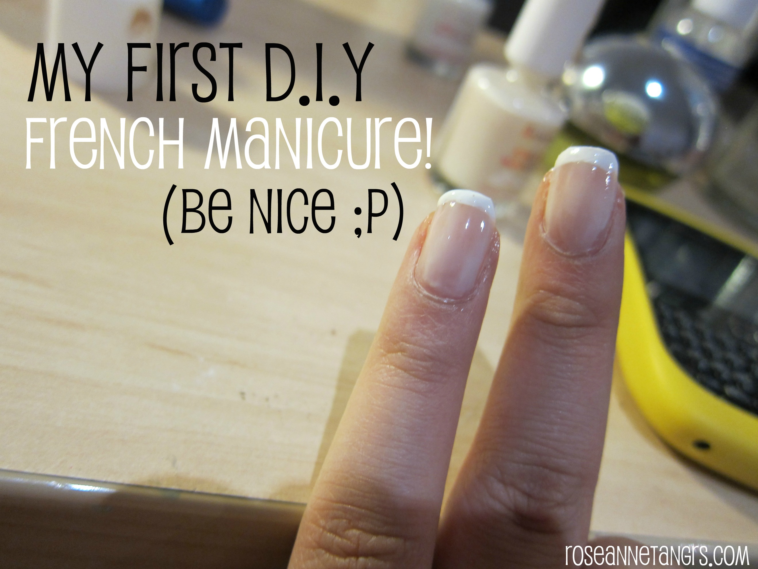 How to my first do it yourself french manicure be nice the french manicure will always be a classic its clean sophisticated and matches pretty much every outfit but it can be pretty pricey at your local nail solutioingenieria Gallery