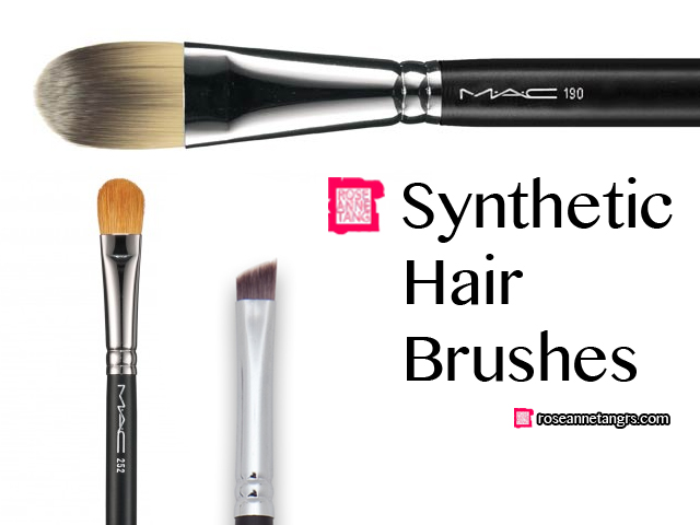 What are Mac brushes made of? How are the synthetic one which is man-made from nylon or other sythetic fibers and the natural one which is made out of various.