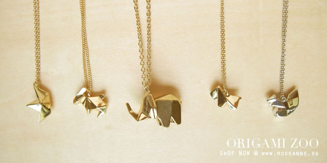 New arrivals on my online store origami animal necklaces new arrivals on my online store origami animal necklaces 3 mozeypictures Image collections